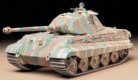 Tamiya Military 1/35 German King Tiger Porsche Turret Tank Kit
