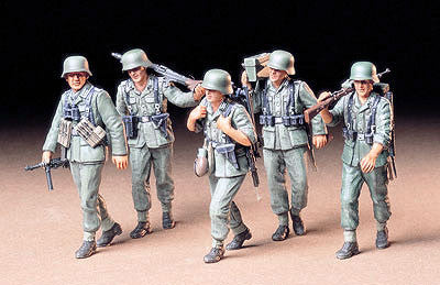 Tamiya Military 1/35 German MG Crew (5 Figures) Kit