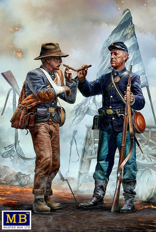 Master Box 1/35 Family Reunited American Civil War End of the War Confederate & Union Soldiers (2) Kit