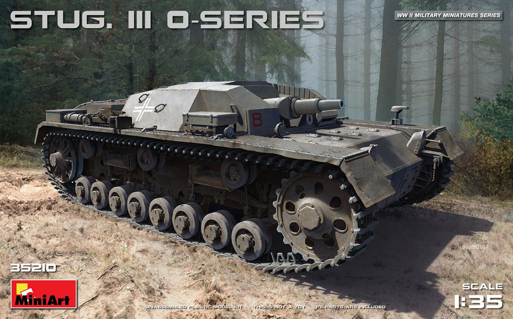 MiniArt Military 1/35 Stug III O-Series Tank (New Tool) Kit