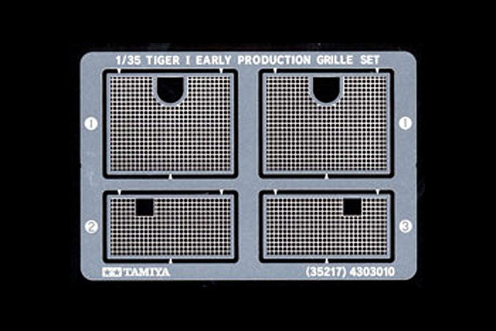 Tamiya Military 1/35 Tiger I Photo-Etched Grille Set Kit