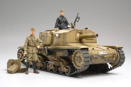 Tamiya Military 1/35 Italian Semovente M40 Tank w/Self-Propelled Gun Kit