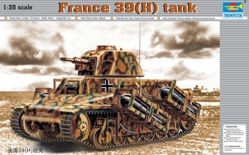 Trumpeter Military Models 1/35 French 39(H) Tank w/37mm SA38 L/33 Long Barreled Gun Kit