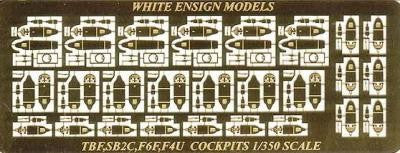 White Ensign Details 1/350 Avenger, Corsair, Hellcat, Helldiver Cockpit Interiors Detail Set