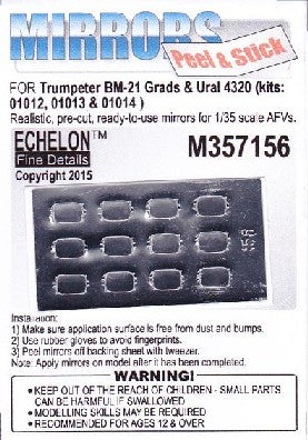 Echelon Decals 1/35 BM21 Grads & Ural 4320 Mirrors for TSM (Peel & Stick)