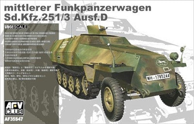 AFV Club Military 1/35 Mittlere Funkpanzerwagen SdKfz 251/3 Ausf D Armored Halftrack Kit