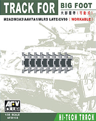 AFV Club Military 1/35 Big Foot Workable Track Links for M2A2, M3A3, AAV7A1, MLRS Late/CV90 Kit