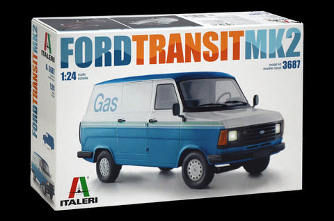 Italeri Model Cars 1/24 Ford Transit Van Mk. II Kit
