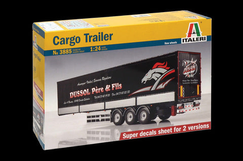 Italeri Model Cars 1/24 Cargo Trailer Kit