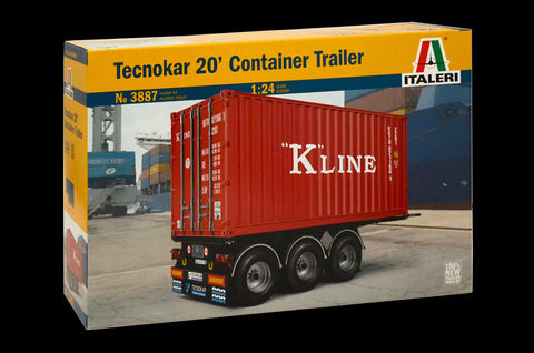Italeri Model Cars 1/24 20 Foot Container Trailer Kit