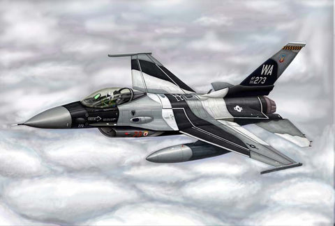 Trumpeter Aircraft 1/144 F16A/C Fighting Falcon Block 15/30/32 Aircraft Kit
