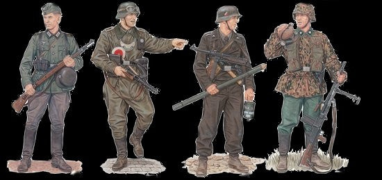 Dragon Military 1/35 March to the West Soldiers Western Front 1940 (4) Kit