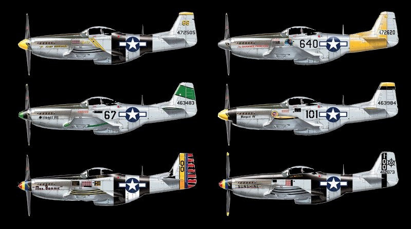 Italeri Aircraft 1/48 P51D/K Pacific Aces Fighter Kit