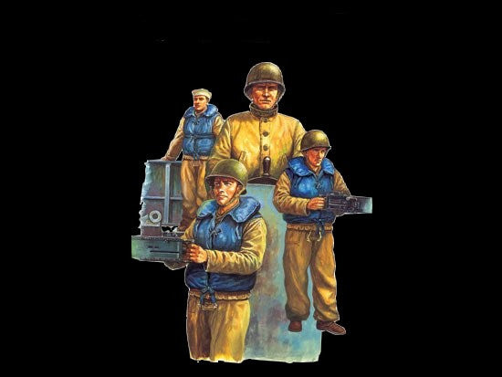 Trumpeter Military Models 1/35 WWII US Navy LCM Crew Figure Set (3) Kit