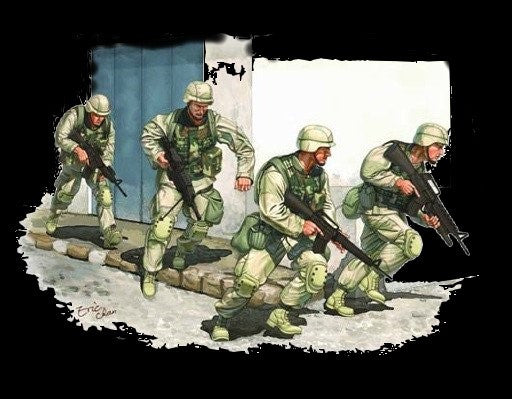 Trumpeter Military Models 1/35 US Army in Iraq 2005 Figure Set (4) Kit