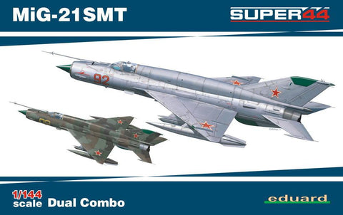 Eduard Aircraft 1/144 MiG21SMT Fighter Dual Combo Ltd. Edition Kit
