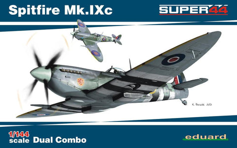 Eduard Aircraft 1/144 Spitfire Mk IXc Fighter Dual Combo Ltd. Edition Kit