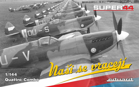 Eduard Aircraft 1/144 WWII Spitfire Mk IX Nasi se vraceji (The Boys are Back) RAF Fighter Quattro Combo Ltd. Edition Kit