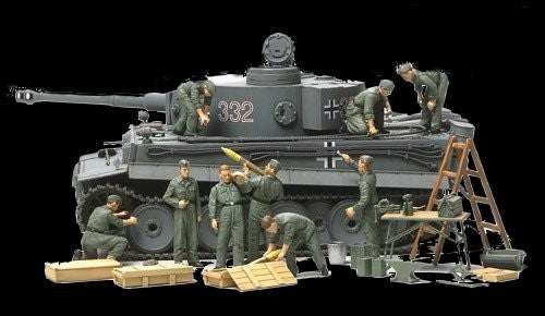 Tamiya Military 1/48 WWII German Tank Crew (9 Figures) & Field Maintenance Kit