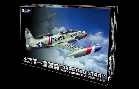 Lion Roar Aircraft 1/48 T33A Shooting Star Early Version Fighter Kit