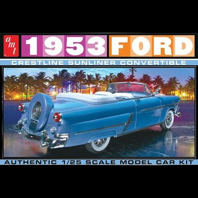 AMT Model Cars 1/25 1953 Ford Crestline Sunliner Convertible Kit
