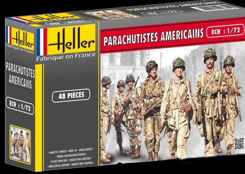 Heller Military 1/72 US Paratroopers (48) Kit