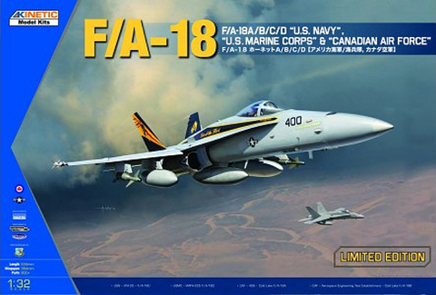 Kinetic Aircraft 1/32 F/A-18A/B/C/D Kit