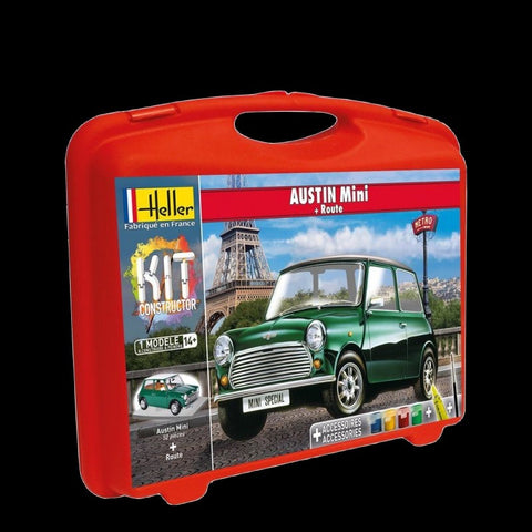 Heller Model Cars 1/43 Austin Mini Car w/Paint & Glue Kit