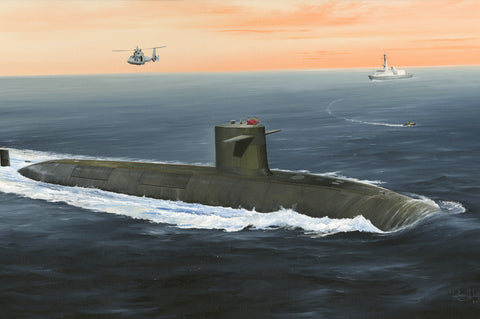 Hobby Boss Model Ships 1/350 French Sub Triomphant Kit
