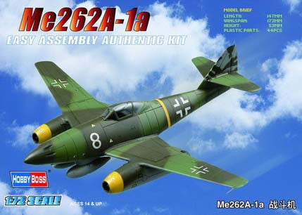 Hobby Boss Aircraft  1/72 Me 262A-1a Fighter Kit