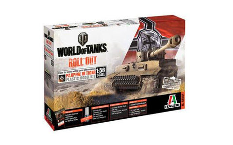 Italeri Wargame World of Tanks 1/56 Pz.Kpfw.VI Tiger Kit