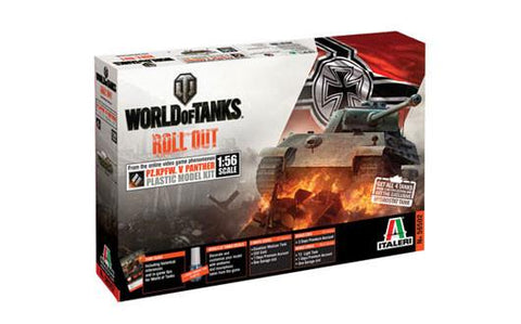 Italeri Wargame World of Tanks 1/56 Pz.Kpfw. V Panther Kit