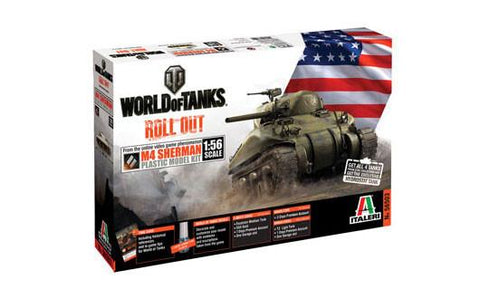 Italeri Wargame World of Tanks 1/56 M4 Sherman Kit