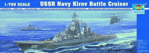Trumpeter Ship Models 1/700 USSR Kirov Soviet Navy Battle Cruiser Kit