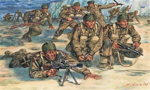 Italeri Military 1/72 WWII British Commandos (50 Figures) Set