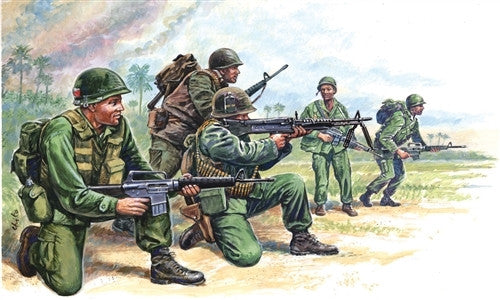 Italeri Military 1/72 Vietnam: US Special Forces (50 Figures) Set