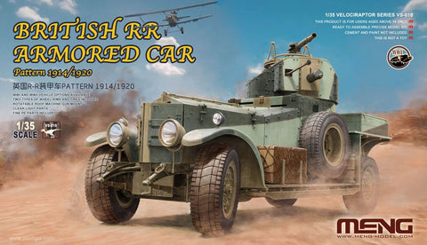 Meng Military 1/35 Pattern 1914/1920 British Rolls Royce Armored Car (New Tool) Kit