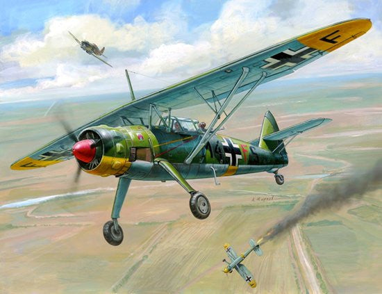 Zvezda Aircraft 1/144 WWII German Henschel He126 Recon Aircraft (Snap Kit)