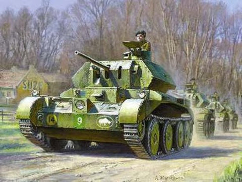 Zvezda Military 1/100 British Crusader Mk IV Tank (Snap Kit)