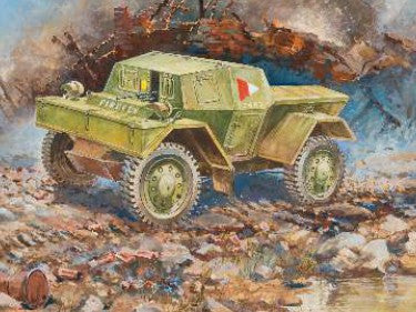 Zvezda Military 1/100 British Dingo Mk 1 Armored Scout Car Snap Kit