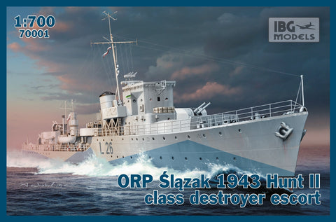 IBG Model Ships 1/700 ORP Slazak 1943 Hunt II Class Destroyer Escort Kit