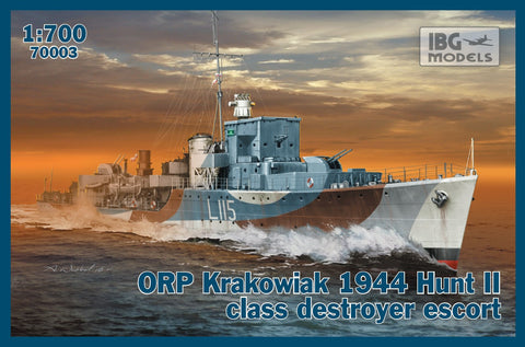 IBG Model Ships 1/700 ORP Krakowiak 1944 Hunt II Clas Destroyer Escort Kit