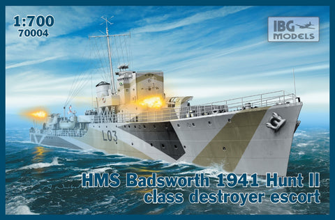IBG Model Ships 1/700 HMS Badsworth 1941 Hunt II Class Destroyer Escort Kit