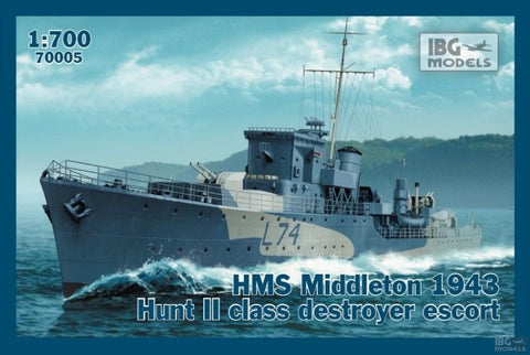 IBG Model Ships 1/700 HMS Middleton 1943 Hunt II Class Destroyer Escort Kit