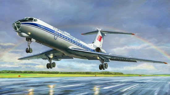 Zvezda Aircraft 1/144 Russian Tu134A/B3 Passenger Airliner Kit