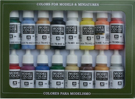 Vallejo Acrylic 17ml  Bottle Basic USA Model Color Paint Set (16 Colors)