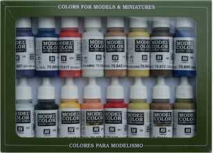 Vallejo Acrylic 17ml  Bottle American Colonial Model Color Paint Set (16 Colors)