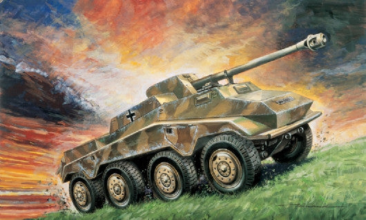 Italeri Military 1/72 SdKfz 234/4 German 8-Wheel Armor Vehicle Kit