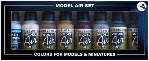 Vallejo Acrylic 17ml  Bottle Demag D7Russia 1941 Model Air Paint Set (8 Colors)