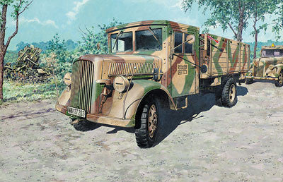 Roden Military 1/72 Opel Blitz (Daimler Built, L701 Einheits) WWII German Cargo Truck w/Wooden-Type Cab Kit